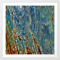 Blue Archetypal Structures Art Print