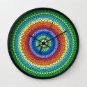 Happy Rainbow Mandala Wall Clock