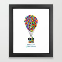 You Are Our Greatest Adventure Up! Framed Art Print