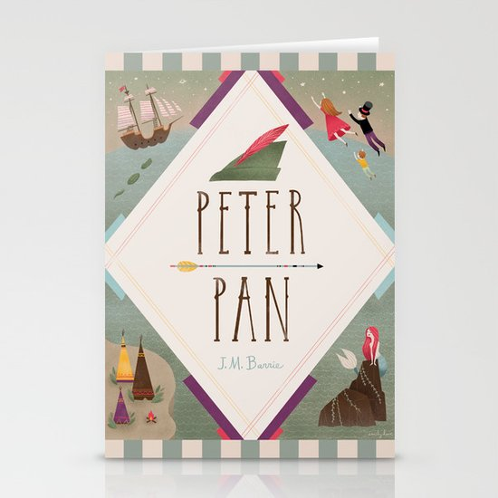 Peter Pan Stationery Card