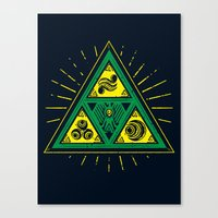 The Tribal Triforce Canvas Print
