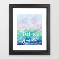 Let's Drift In A Waterco… Framed Art Print