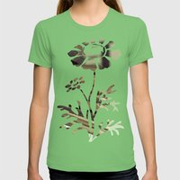 Retro Books Womens Fitted Tee Grass SMALL