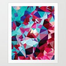Polygon Pattern Art Print