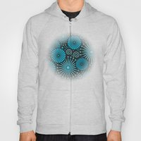 Blue retro abstract Hoody