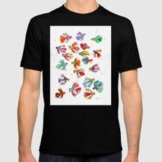 Colorful fishes Mens Fitted Tee Black SMALL
