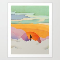 I Like to Watch the Sun Come Up - (White Version) Art Print