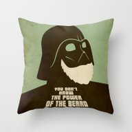 Beard Vader Throw Pillow