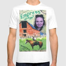 Earth Empress White SMALL Mens Fitted Tee