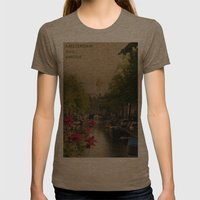 Amsterdam mon amour Womens Fitted Tee Tri-Coffee SMALL