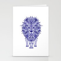 lion Stationery Cards featuring LIon by Monika Strigel
