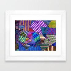 Colorful Lines Framed Art Print