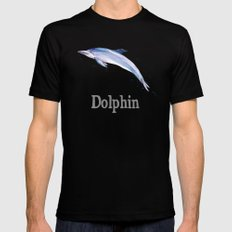 D is for Dolphin Mens Fitted Tee Black SMALL