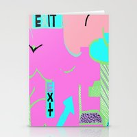Exit in hot pink Stationery Cards