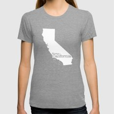 Home Is California Womens Fitted Tee Tri-Grey SMALL
