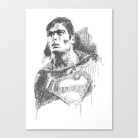 Christopher Reeve Portra… Canvas Print