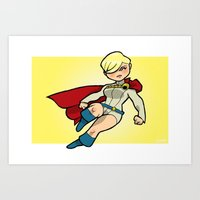 PowerGirl Mini-Print Art Print