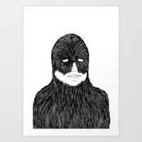 Shaved Chewbacca Art Print