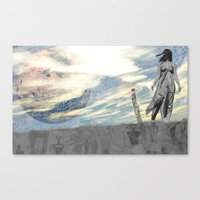 Worlds In Collision  Canvas Print