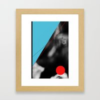 blue and red circle Framed Art Print