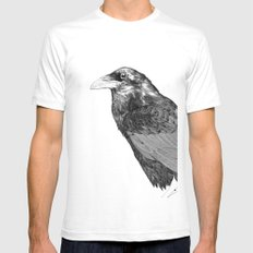 Corvus Corax Mens Fitted Tee White SMALL