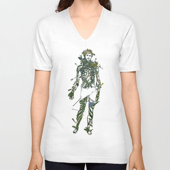 Wound Man V-neck T-shirt