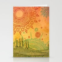 Merging Spheres Stationery Cards