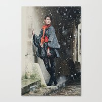 Snowscape V Canvas Print