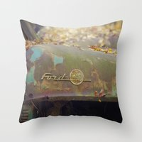 Ford F 100 Throw Pillow