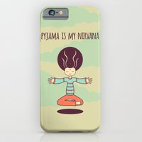 iPhone & iPod Case featuring pyjama is my nirvana by freshinkstain