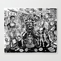 Monsters And Robots Canvas Print