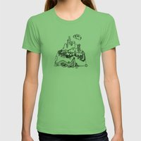 Lonely mountain Womens Fitted Tee Grass SMALL