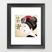 Geisha - Painting Framed Art Print