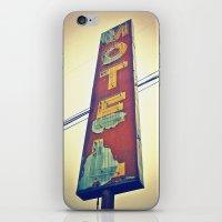 Motel Americana sign iPhone & iPod Skin