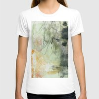 Lines & Texture 1 Womens Fitted Tee White SMALL