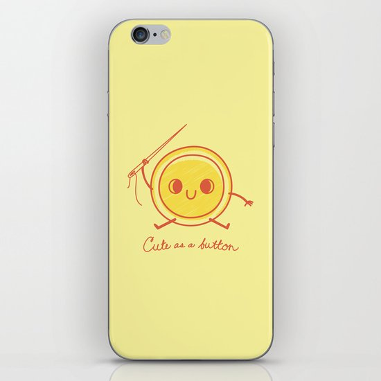 Cute as a button! iPhone & iPod Skin