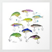 Fishing Is Fly No3 Art Print
