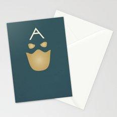 Minimalist Captain America Stationery Cards