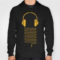 Gold Headphones Hoody