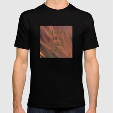 MAKE ART   MAKE OUT SMALL Black Mens Fitted Tee