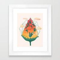 City In Bloom Framed Art Print