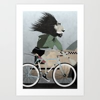 Alleycat Races Art Print