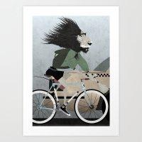 Alleycat Races Art Print
