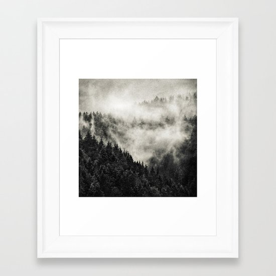 In My Other World // Old School Retro Edit Framed Art Print