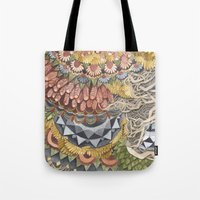 Quilted Forest: The Bear Tote Bag
