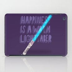 Happiness is a warm Lightsaber iPad Case