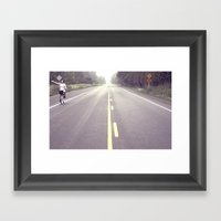 The Open Road Framed Art Print