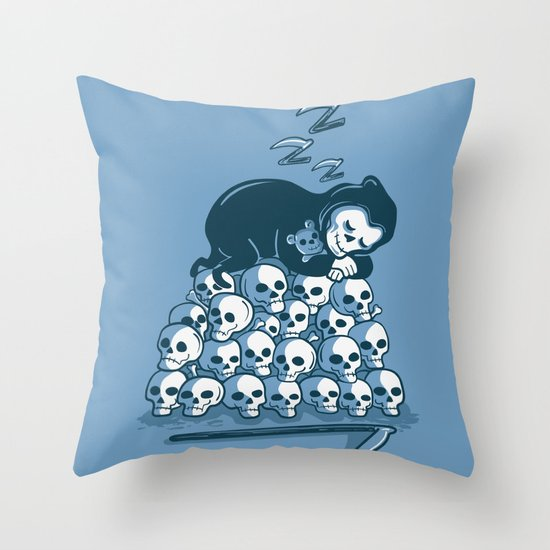 Grim Sleeper Throw Pillow