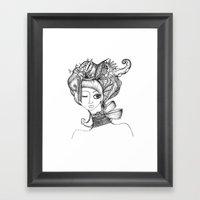 Modern Day Geisha Framed Art Print