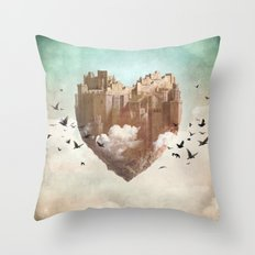 My Heart Is My Castle Throw Pillow